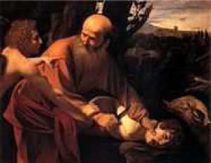 El sacrificio de Isaac de Caravaggio